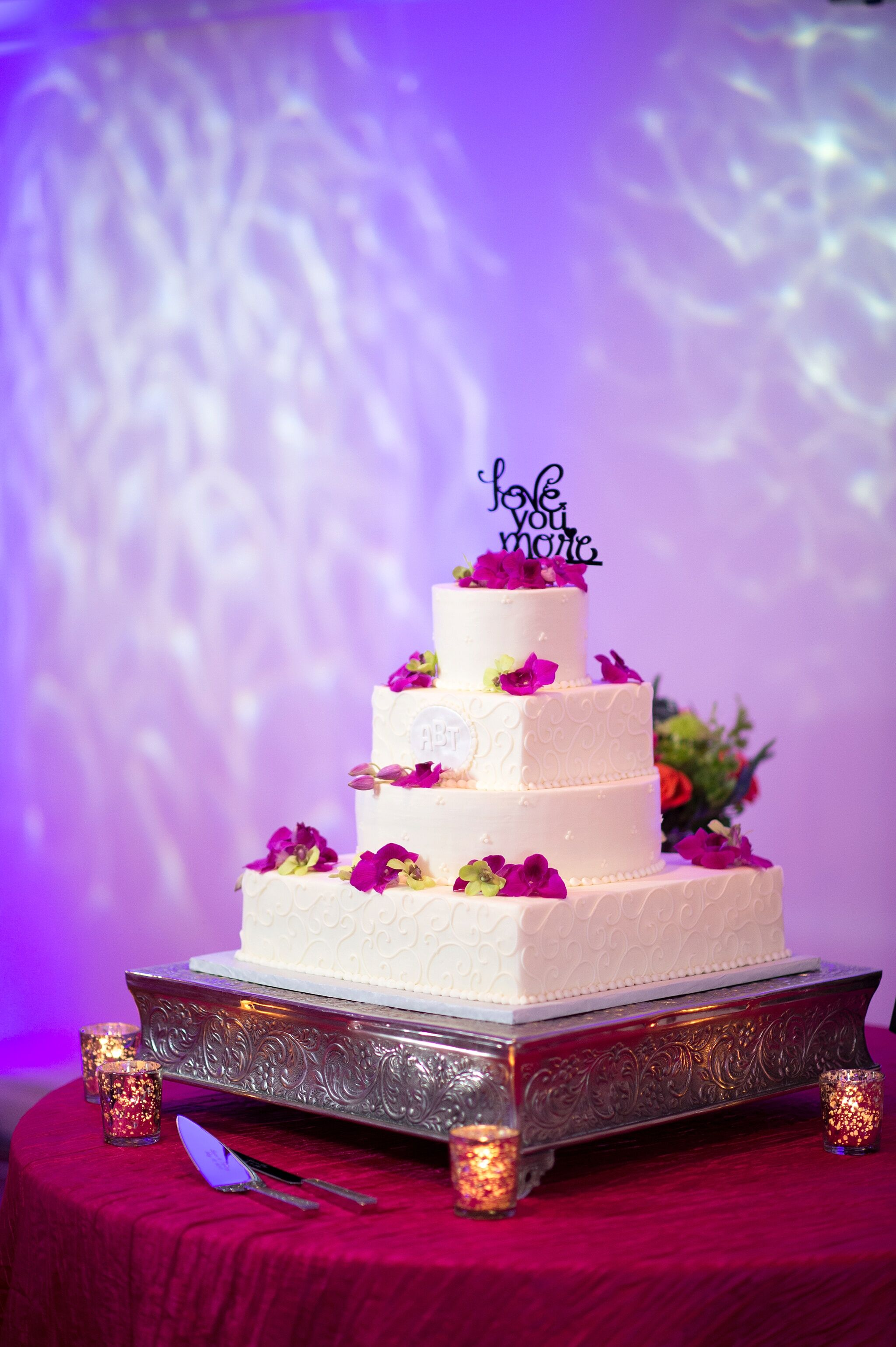 Square Tier Wedding Cake