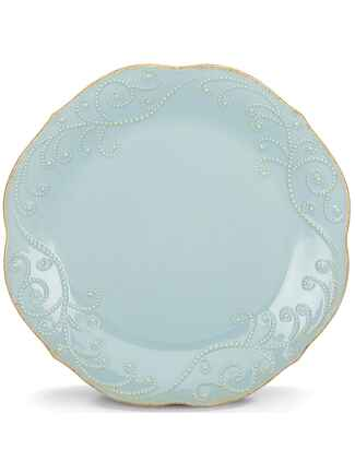 French Perle ice blue dinner plate from Lenox