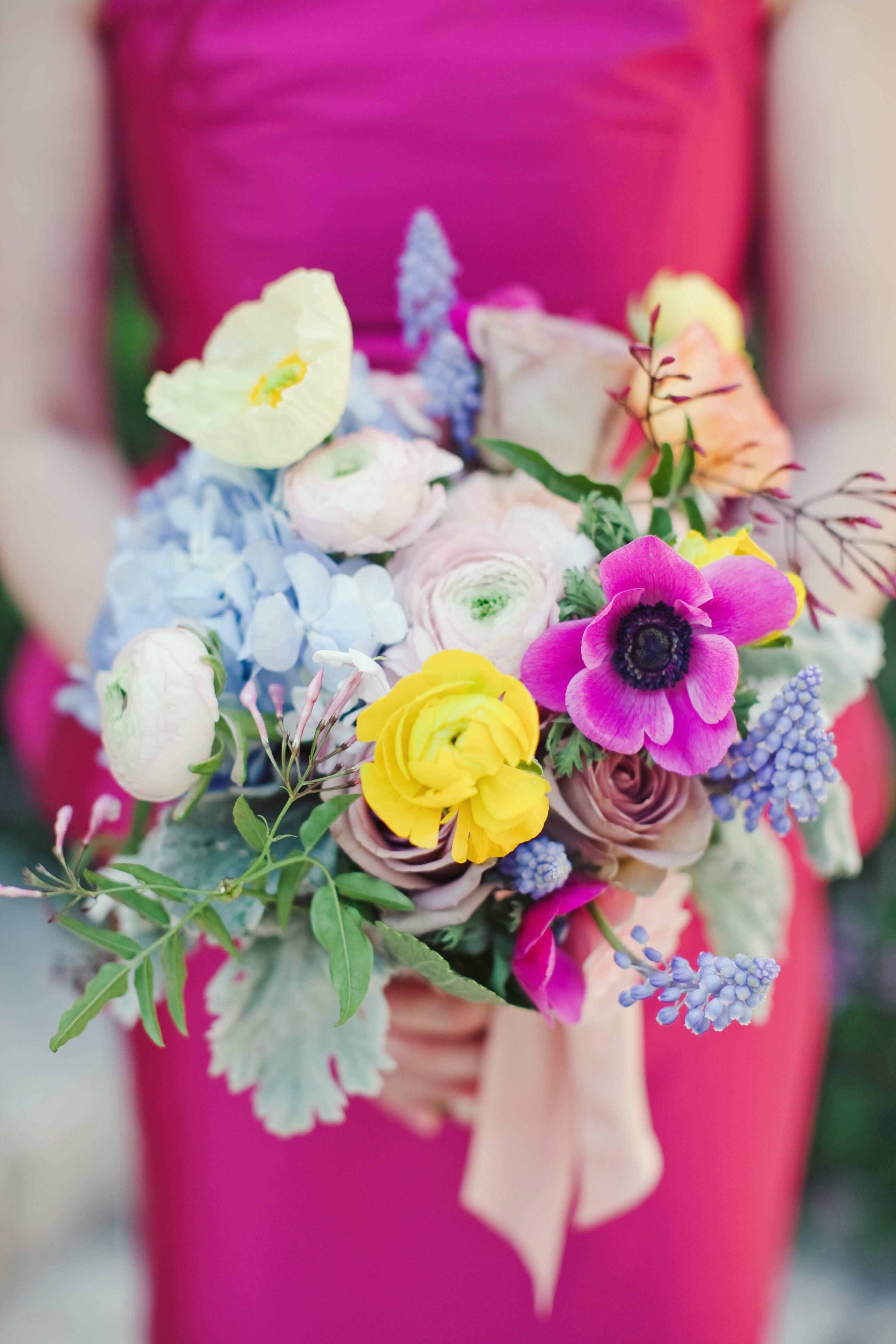Разноцветный букеты для невесты минске
