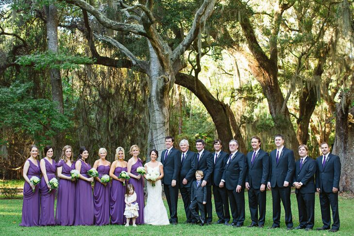 Purple and Navy Wedding Party