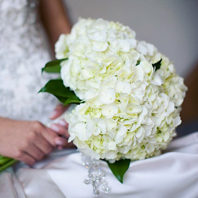 Wedding White Hydrangea: White Hydrangea Bridal Bouquet