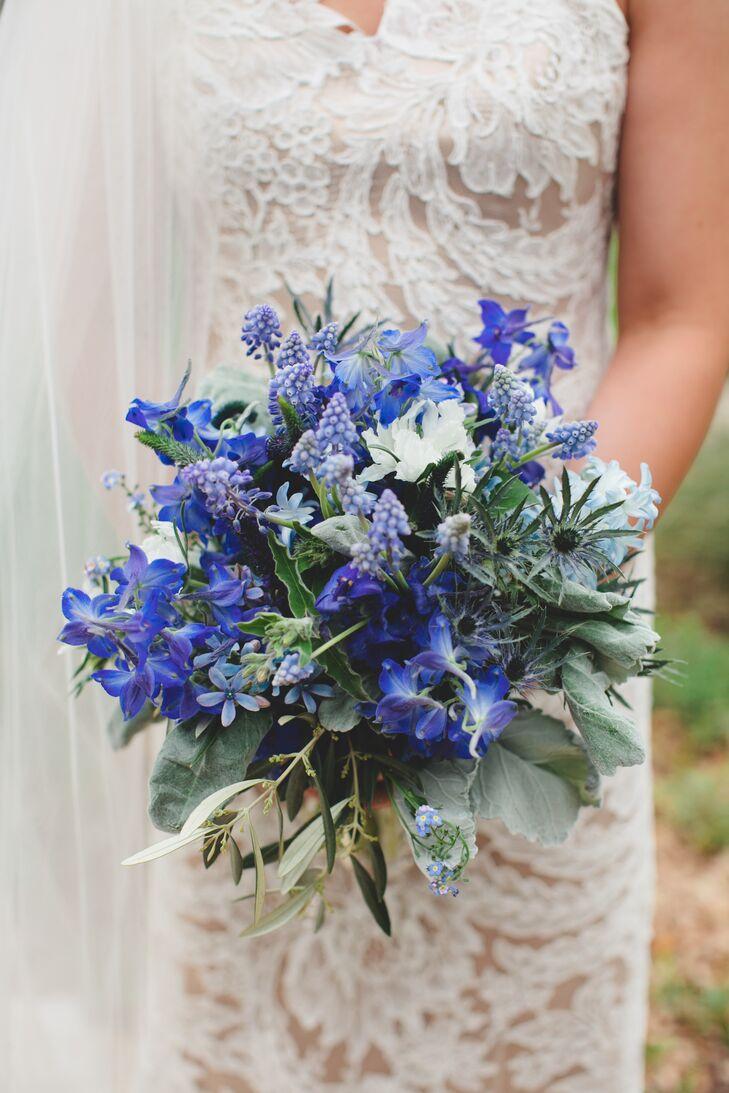 Blue texas wildflower bridal bouquet izmirmasajfo