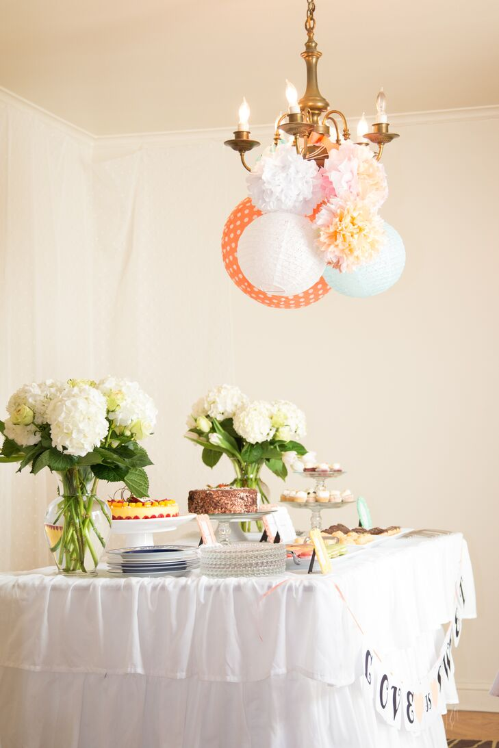 a cheerful spring bridal shower at a private residence in san francisco california
