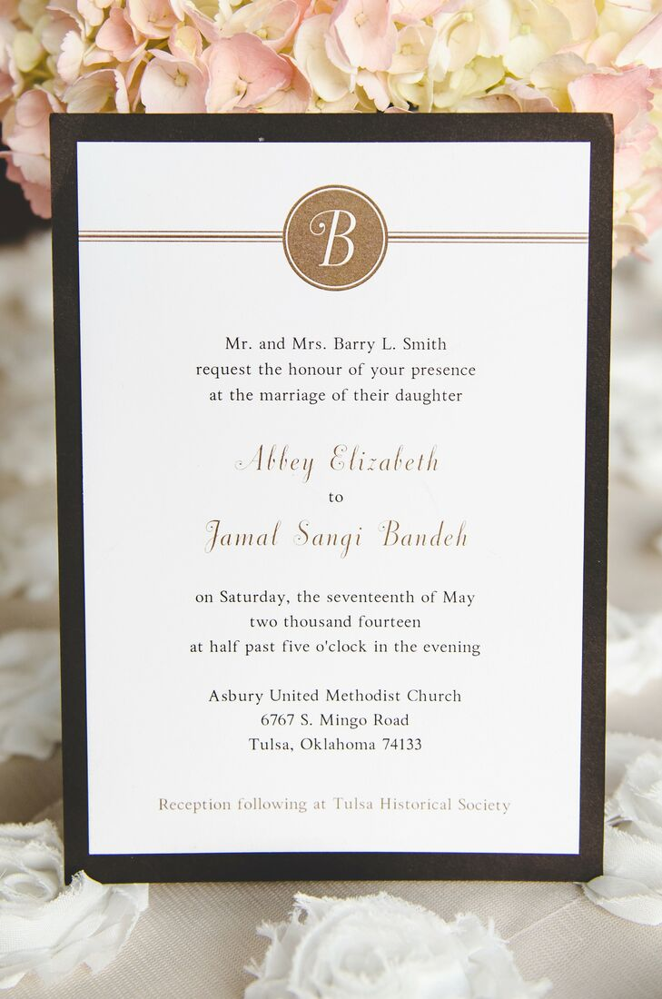 Classic Black, Gold and Ivory Wedding Invitation