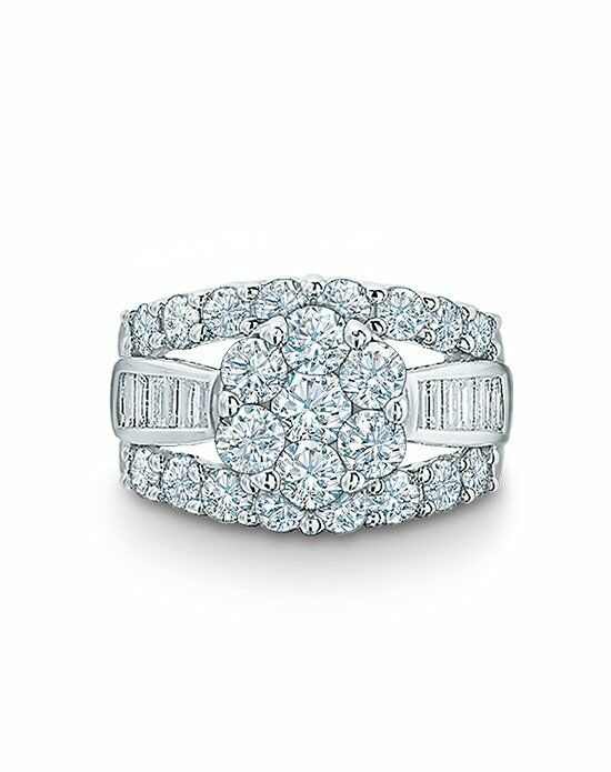 Zales 4 CT. T.W. Composite Diamond Cluster Engagement Ring in 14K White Gold  18990556 Engagement Ring photo