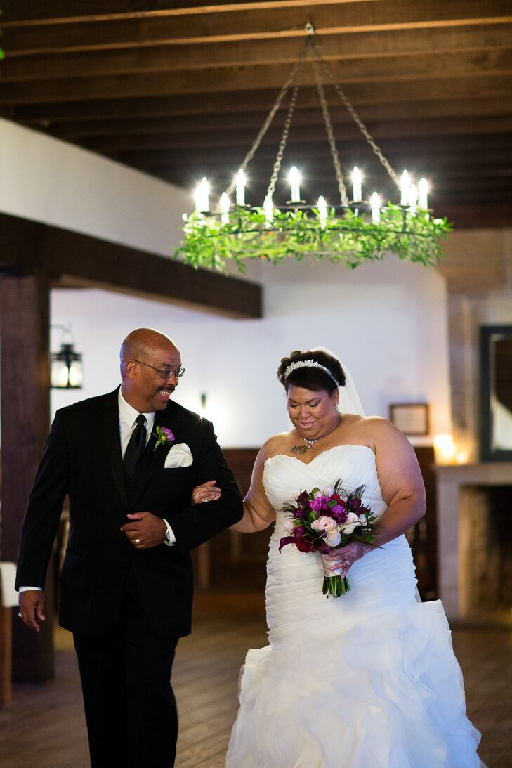 Veronica was walked down the aisle by her father during the ceremony at Williamsburg Winery.