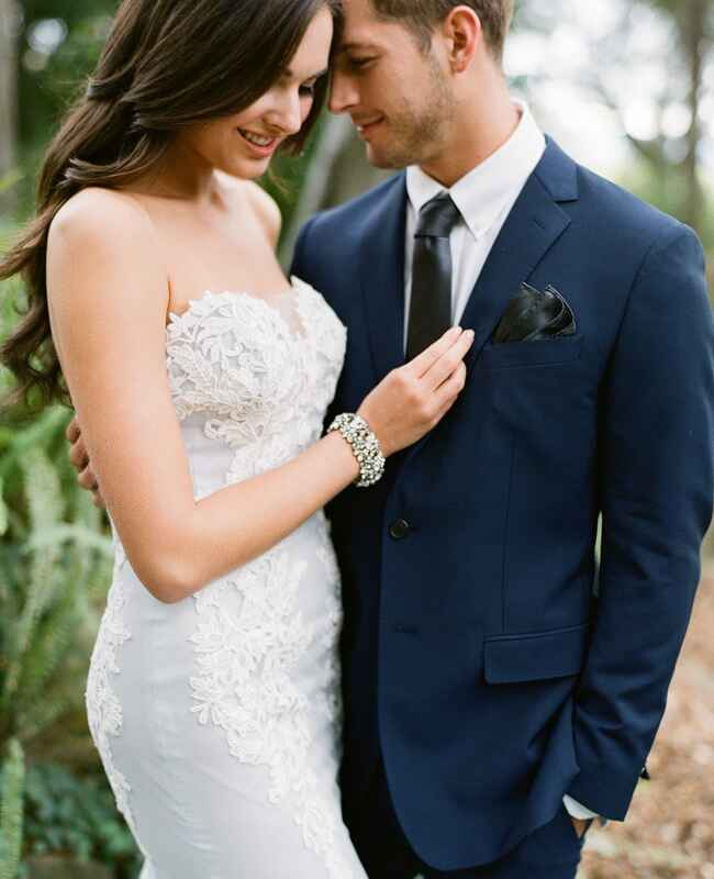 Blue Ines DiSanto wedding dress | Jose Villa | blog.theknot.com