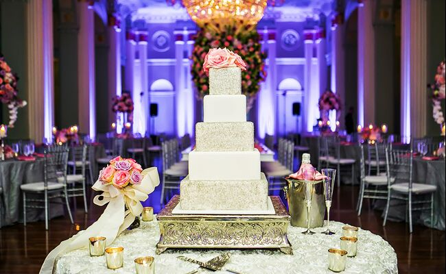 Glittery Cake Shines At Historic Atlanta Venue