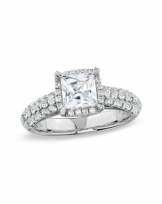 Zales 2-1/2 CT. T.W. Certified Framed Princess-Cut Diamond Engagement Ring in 14K White Gold  18703777 Engagement Ring photo