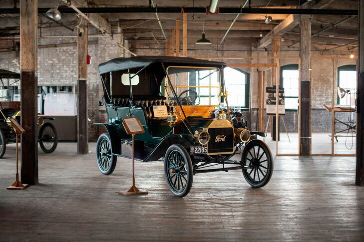 In addition to the expansive space, Ford Piquette Avenue Plant included vintage Ford Model Ts throughout.