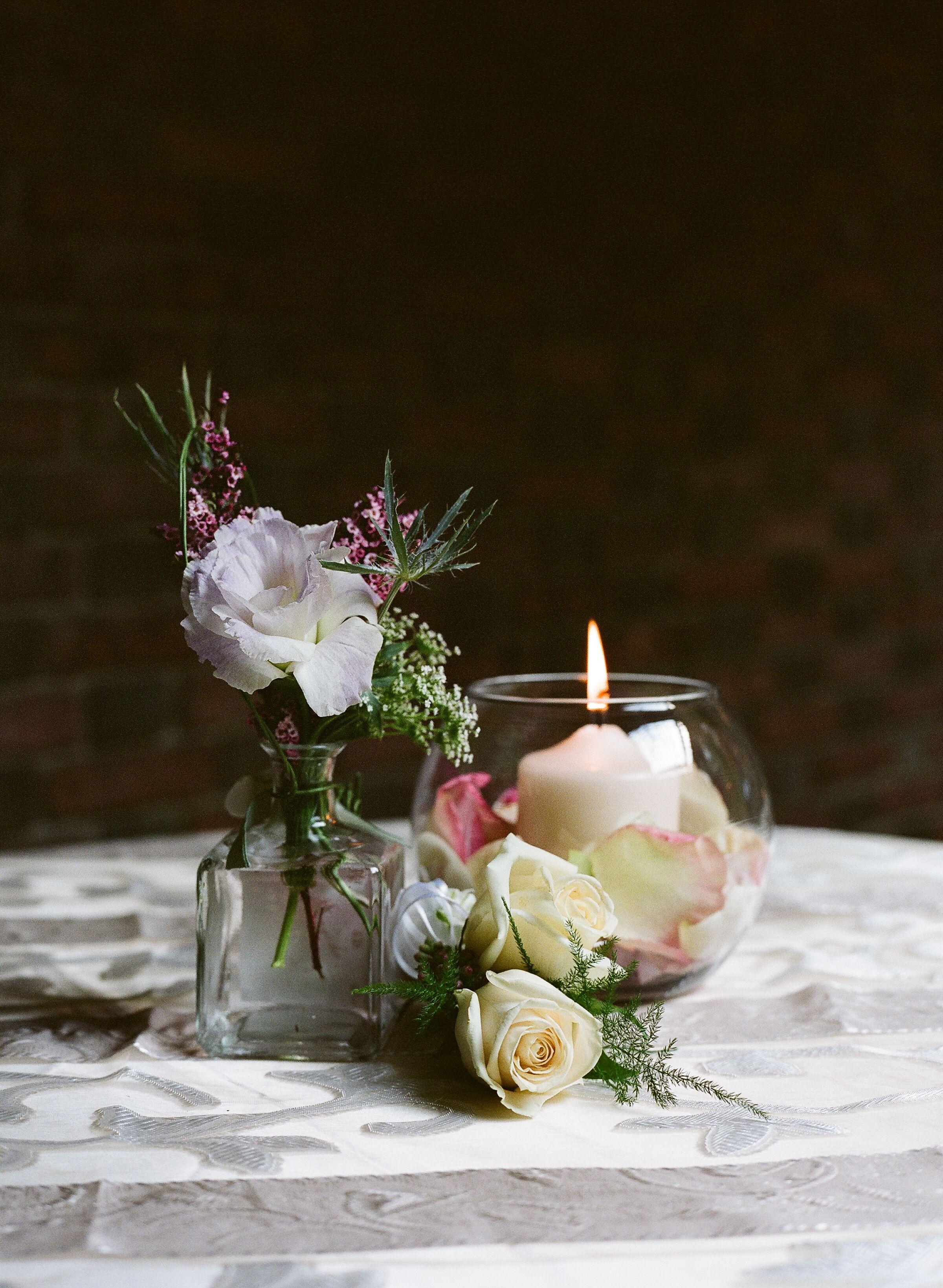 Romantic Pastel Flower Centerpiece