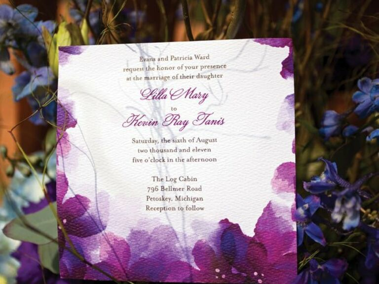 Purple And Blue Wedding Invitations: Wedding Color Schemes