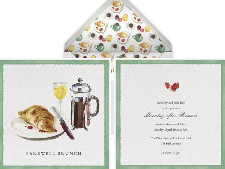 our favorite post-wedding brunch invitations, Wedding invitations