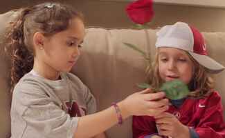 Kids Reenact Love Story Save-the-Date Video