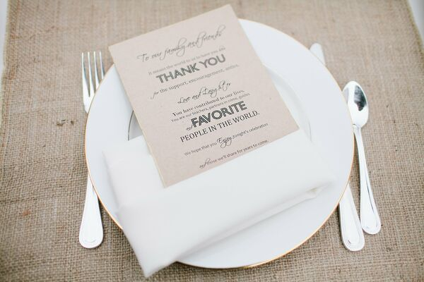 DIY Wedding Menu Cards