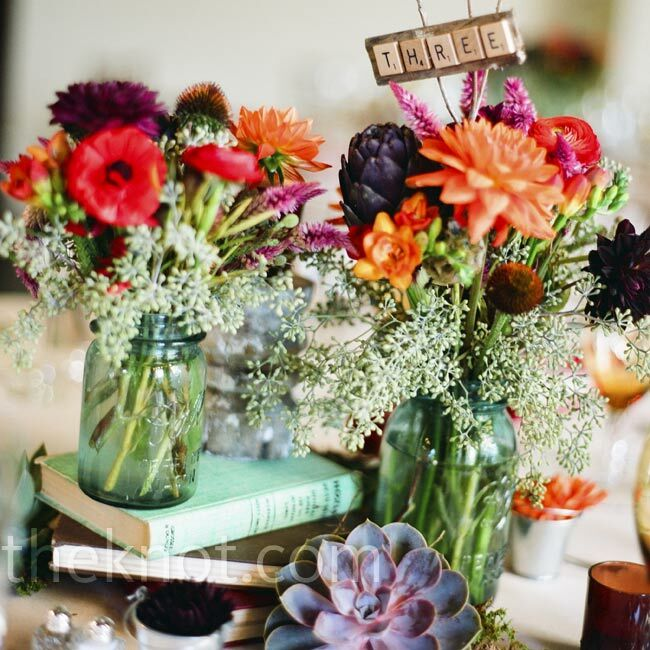 Fall Wedding Flowers List: Book And Floral Centerpieces
