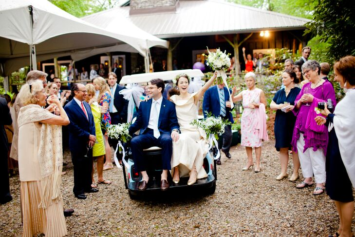 Golf Cart Wedding Reception Entrance Wedding Dress Golf Cart on dinner dress, performance dress, scooter dress, boat dress, convertible dress, tank dress, tee dress, house dress, accessories dress,
