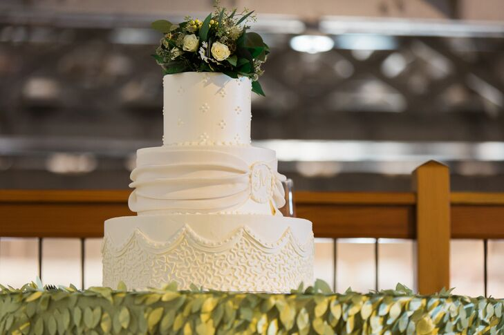 Rustic Wedding Cake Each Layer A Different Texture