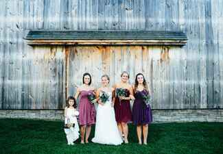 Shades of Purple Mismatched Bridesmaid Dresses |<img class=