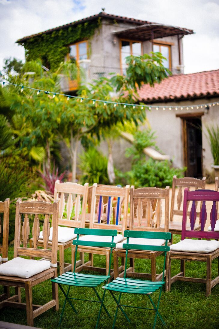 colorful backyard wedding at a private residence in sonoma california