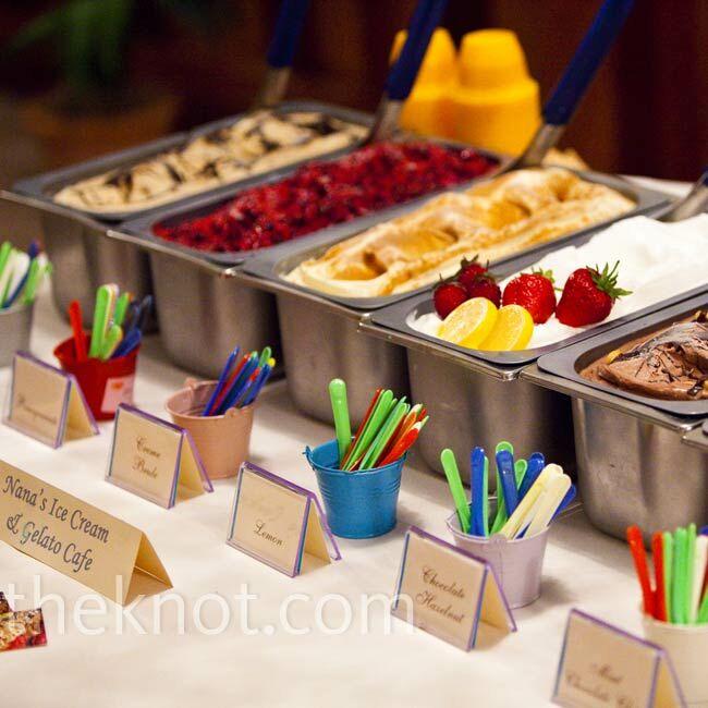 Ice table wedding
