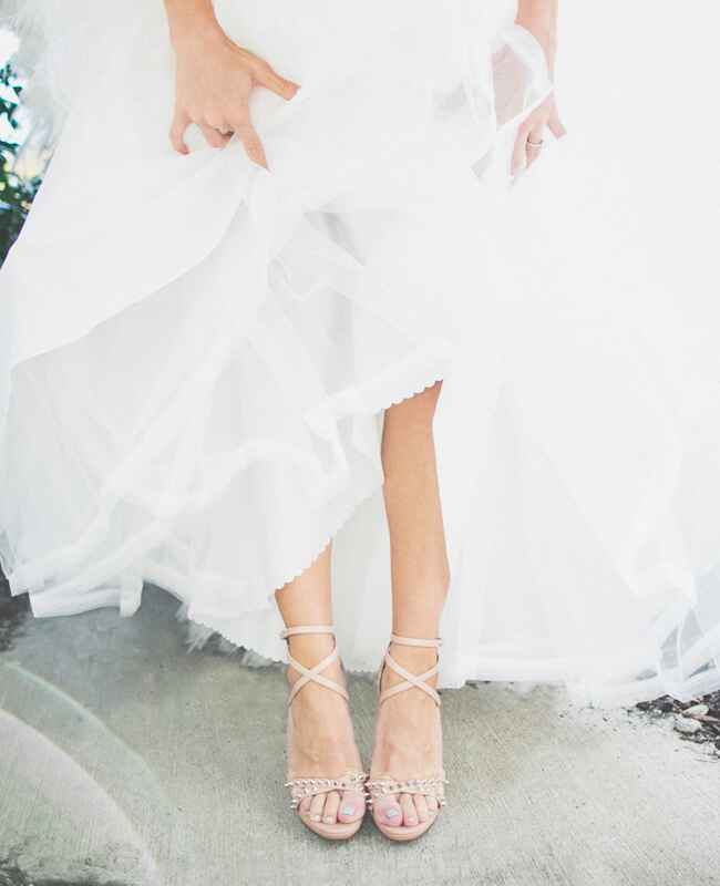 Nude Strappy Heels | The Shultzes | The Knot Blog
