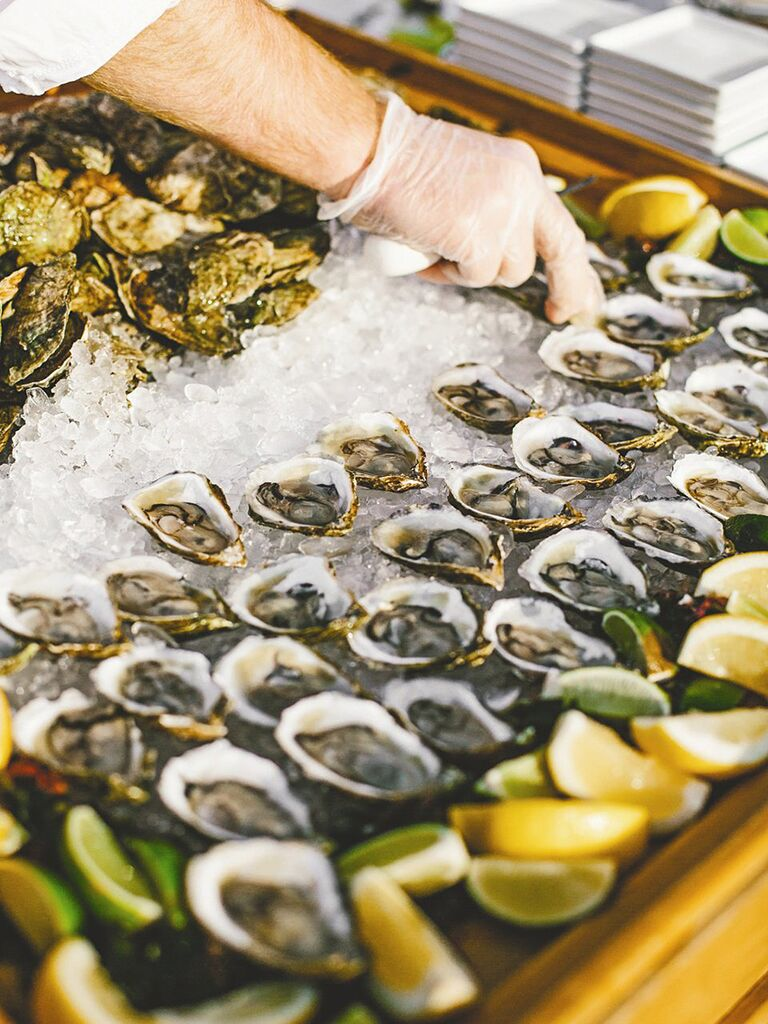 Fresh Raw Bar For A Wedding Reception Etizer Idea