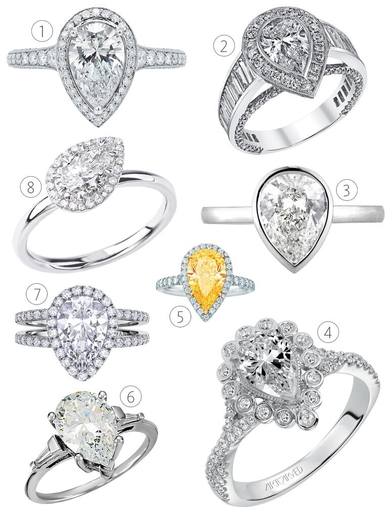 Gorgeous Pear Shaped Engagement Rings