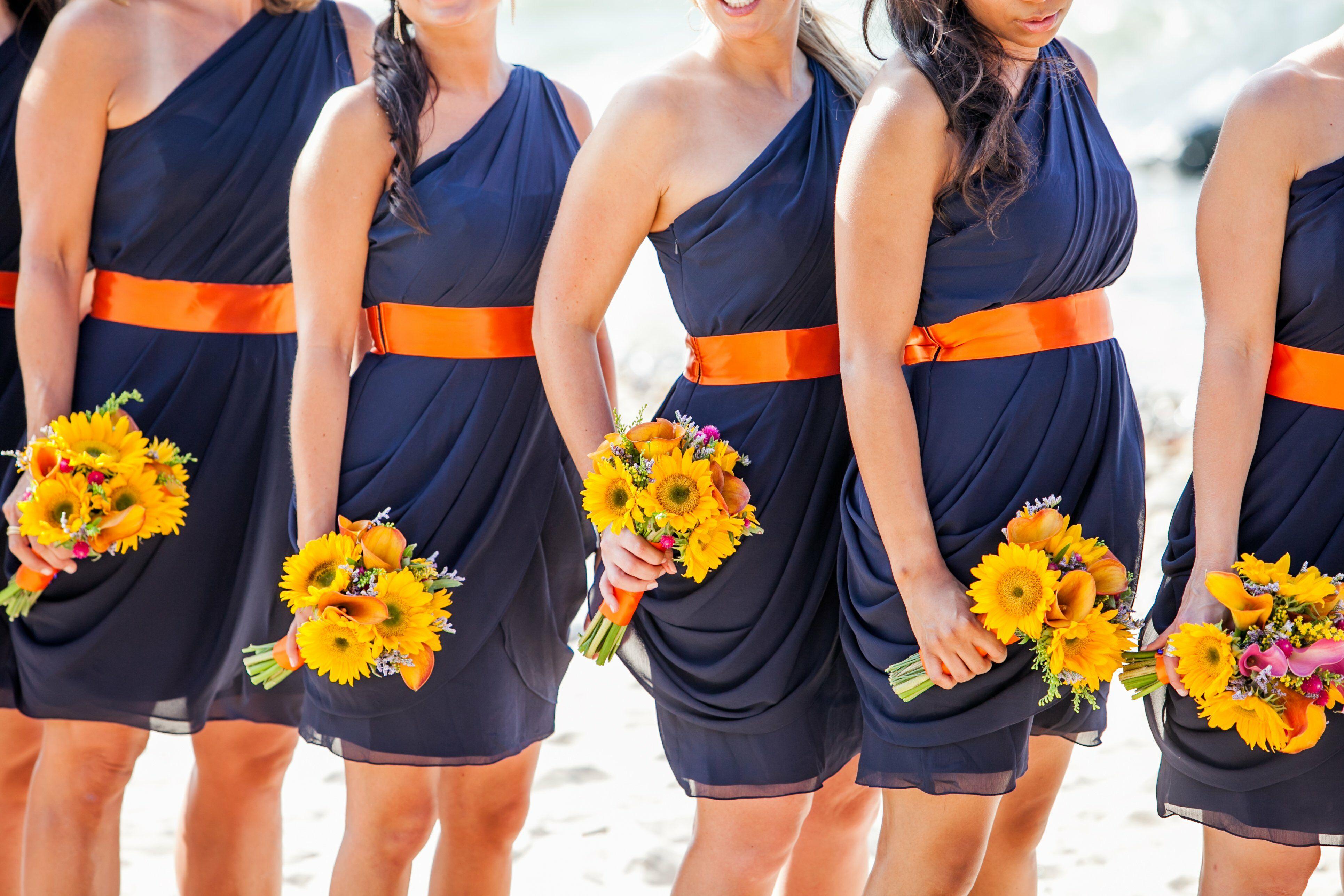 Sunflower Yellow Bridesmaid Dresses