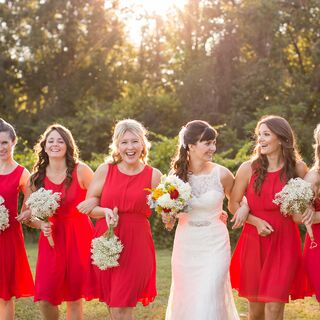 Real Red Bridesmaid Dresses