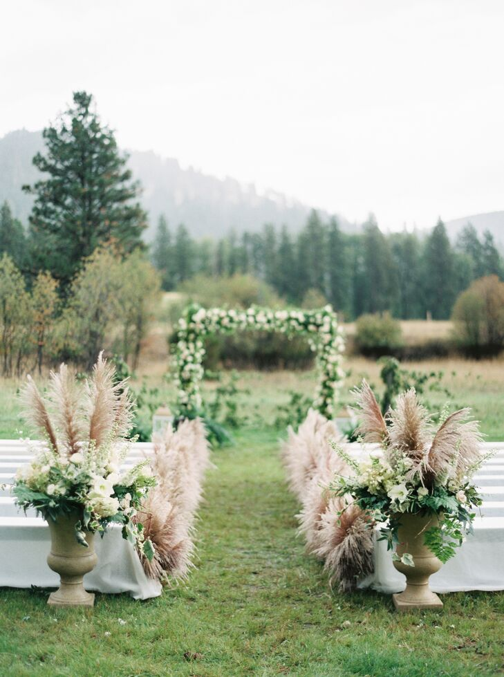 Pampas Grass As Ceremony Decor