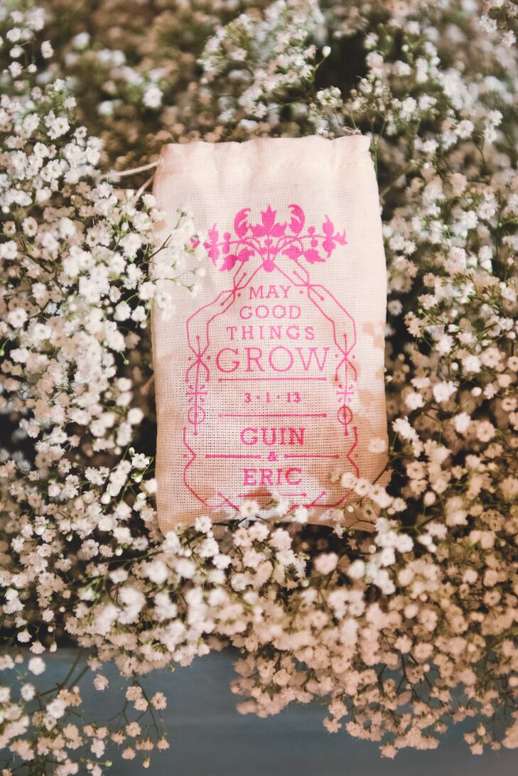 Customized Drawstring Seed Bags Wedding Favors