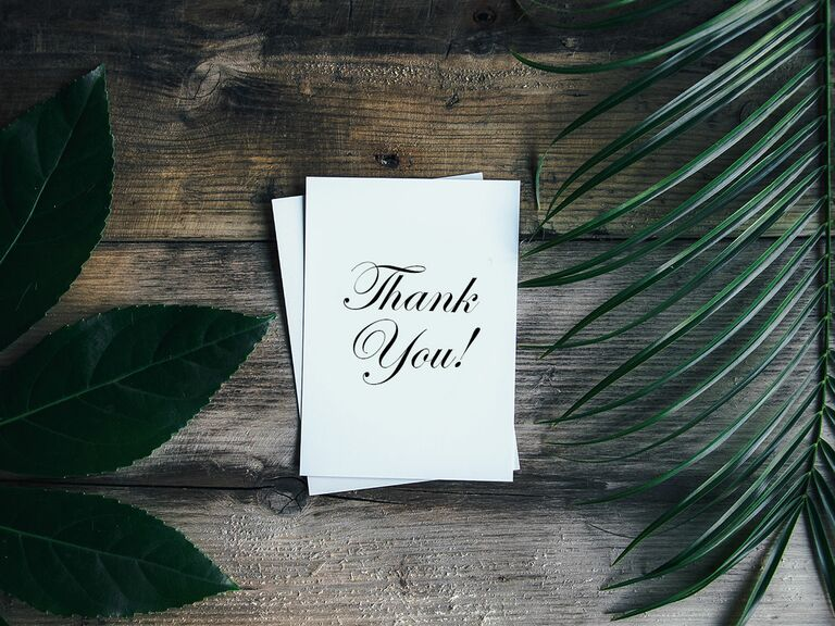 Thank you notes wedding thank you wording a guide to writing wedding thank you notes junglespirit Image collections