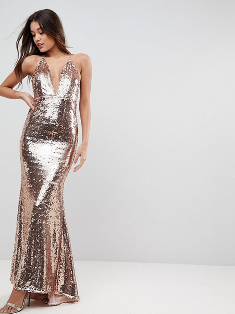 A Sexy Slinky Sequined Number Is Perfect For Formal Winter Weddings