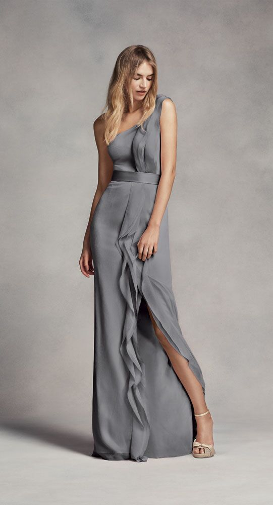 Vera Wang Light Grey Bridesmaid Dresses