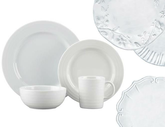 White dinnerware set registry ideas