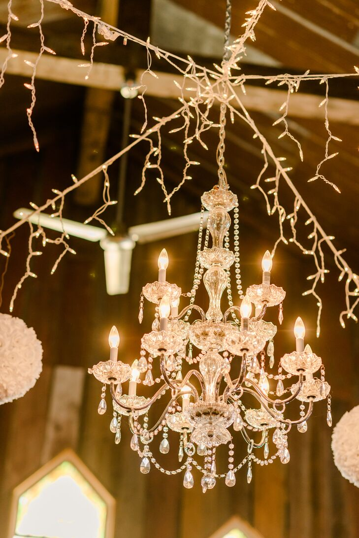 Chandelier decor with string lights aloadofball Image collections