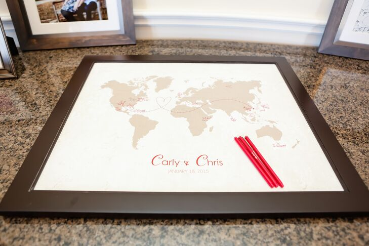 World map guest book in texas wedding gumiabroncs Image collections