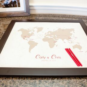 Romantic wedding guest books world map guest book in texas wedding gumiabroncs Images