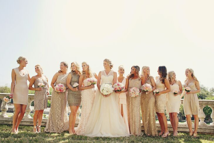 Real Bridesmaids In Our Stunning And Elegant Bridesmaid: An Elegant, Luxe Wedding At Commodore Perry Estate In