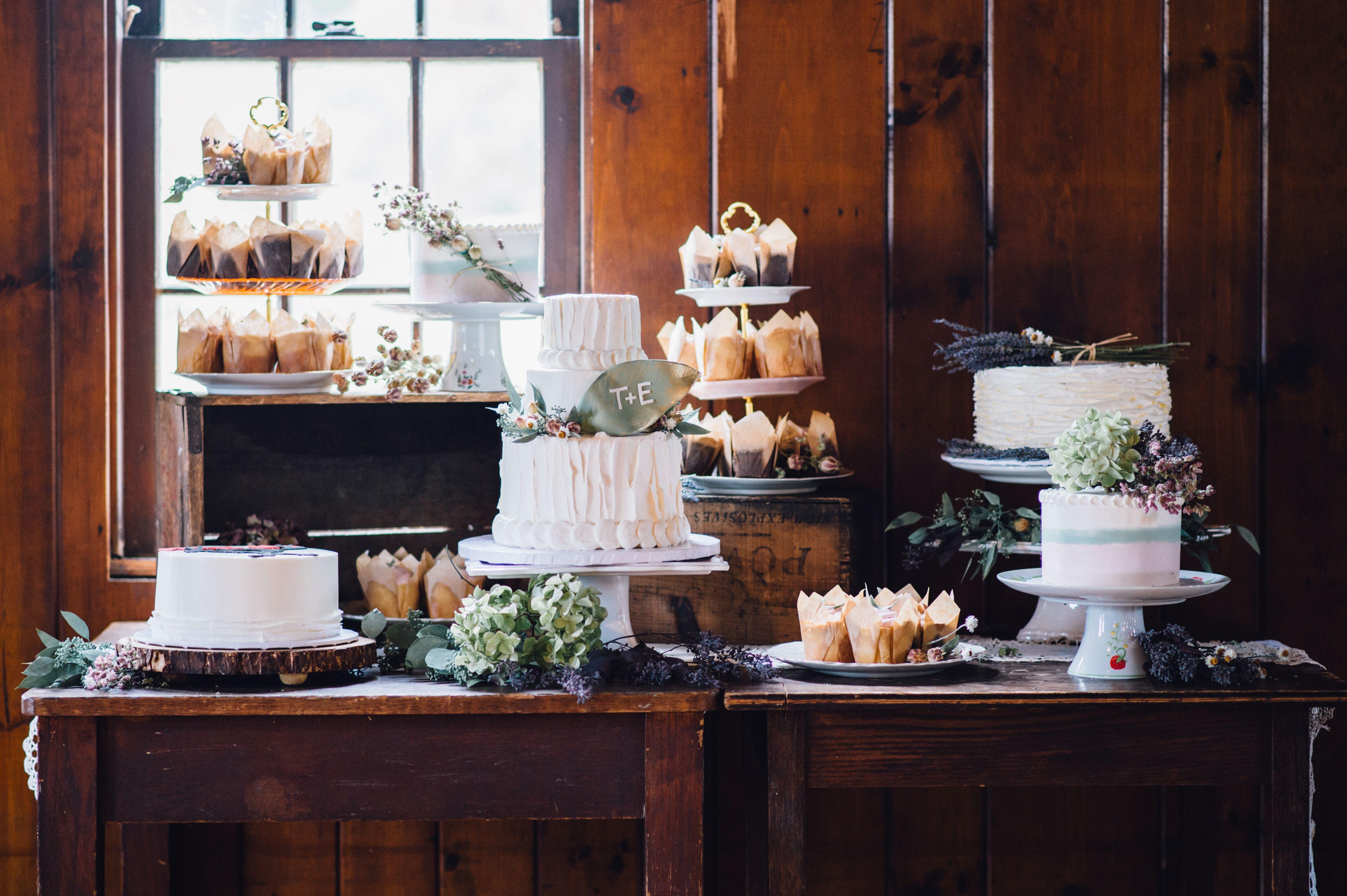 Cupcake And Wedding Cake Table