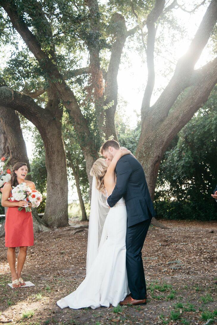 a summer backyard wedding at alhambra hall in charleston south