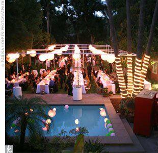 Mary gary an outdoor wedding in san marino ca for Garden pool wedding
