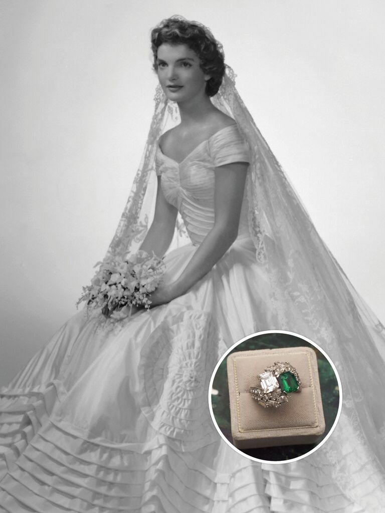 jacqueline kennedy on her wedding day - History Of Wedding Rings