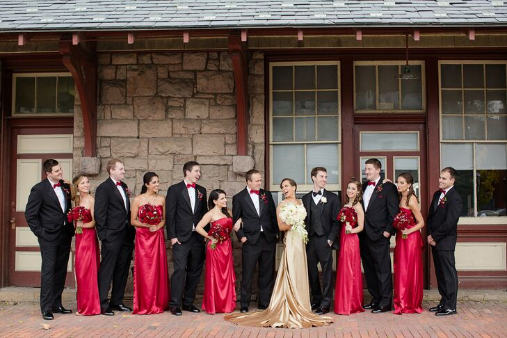 Wedding party in black red and gold junglespirit Gallery