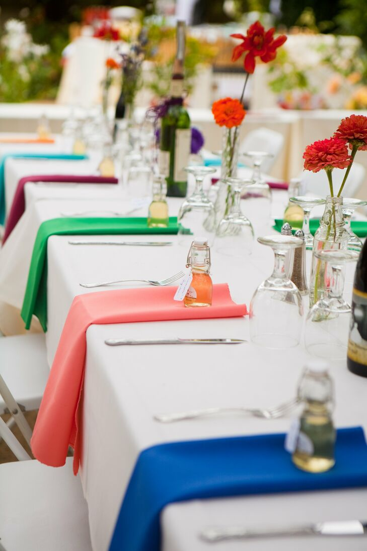 Bright Colorful Reception Tablescape