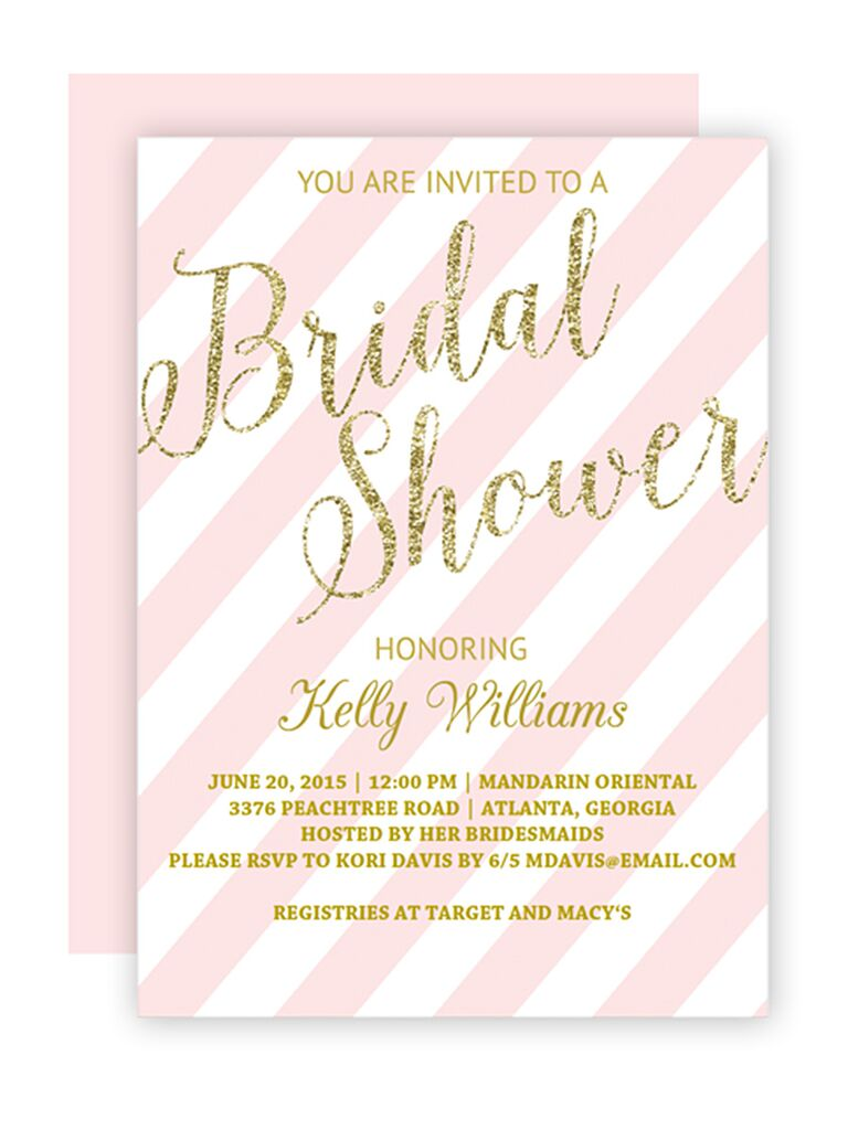 DIY Blush And Gold Bridal Shower Invitation Printable Template  Bridal Shower Template