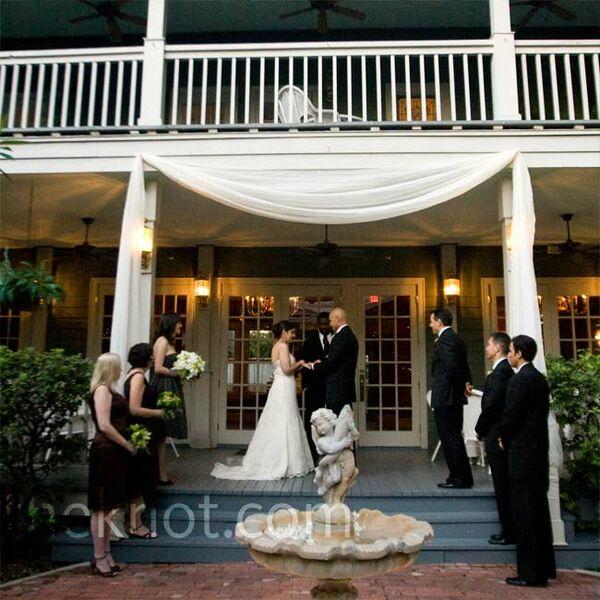 Outdoor Wedding Ceremony Orlando: Green Escort Boxes