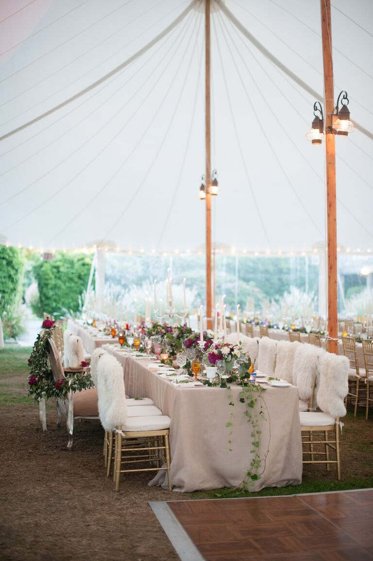 10 outdoor wedding trends were loving now open air wedding tent with elegant decorations junglespirit Images