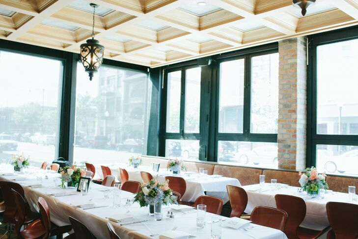 """Nightwood is one of our favorite places to eat in the city because of the farm-to-table, locally-sourced menu,"" the bride says. ""We particularly love brunch there and wanted to share our love of the location with our guests."""